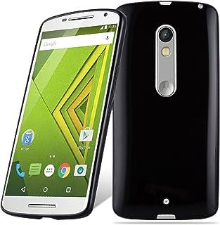 f54c479deaf Cadorabo Funda para Motorola Moto X Play en Negro – Cubierta Proteccíon de  Silicona TPU Delgada