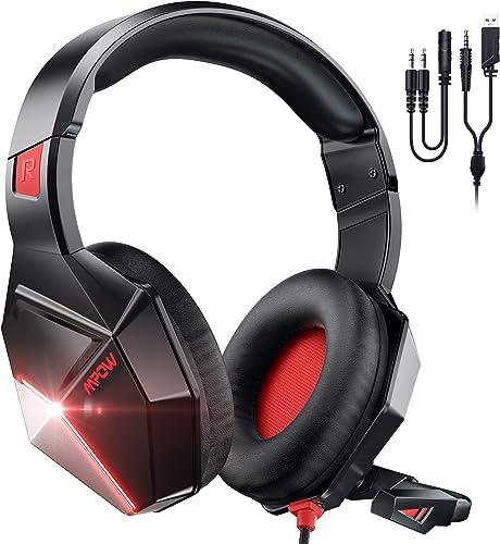 Mpow EG10 Auriculares Gaming para PS4, PC, Xbox One, Switch, Mac, Cascos da 3,5 mm Jack con Micrófono Cancelación de ...
