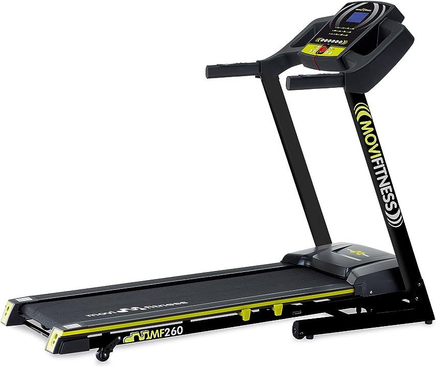 Tapis roulant movi fitness mf260, elettrico, pieghevole, salva spazio, professionale, servizio assistenza
