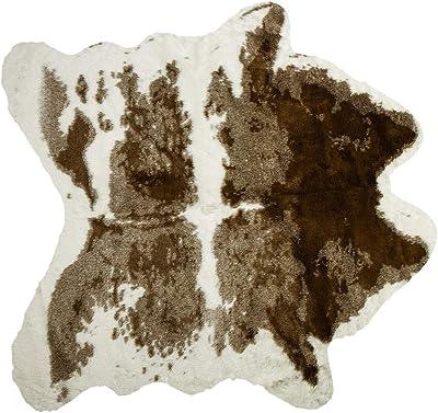 E40 NEW COWHIDE RUG Area Rug Dark brown /&  cream Cow Hide Rug -6068-animal skin rug western decor farm or country decor 52 x 52 = 18.8