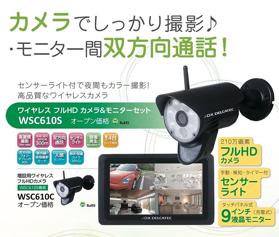 フィット処理するカプセルエレコム(DXアンテナ) WSC610S デルカテック/ワイヤレスフルHDカメラ&モニターセット