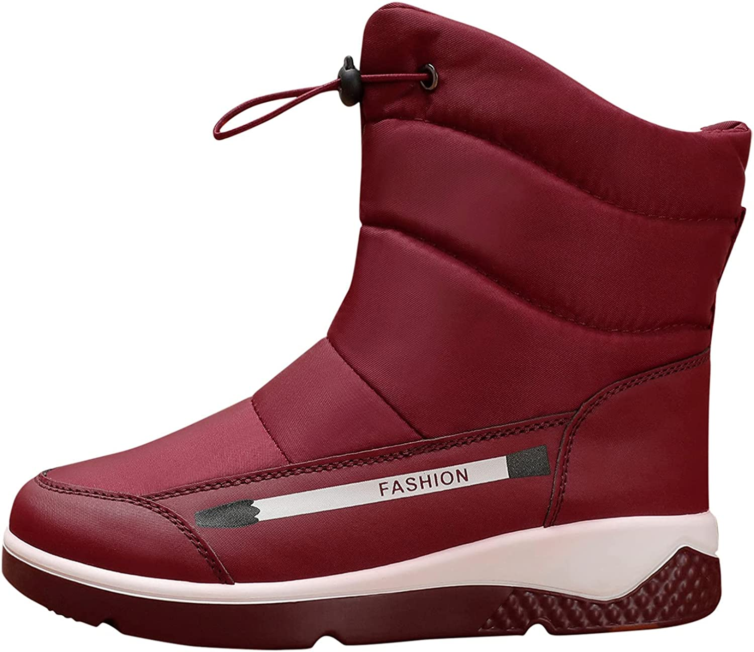 Max 51% OFF Womens Winter Snow Boots All stores are sold Fur Lined Wate On Ankle Warm Slip