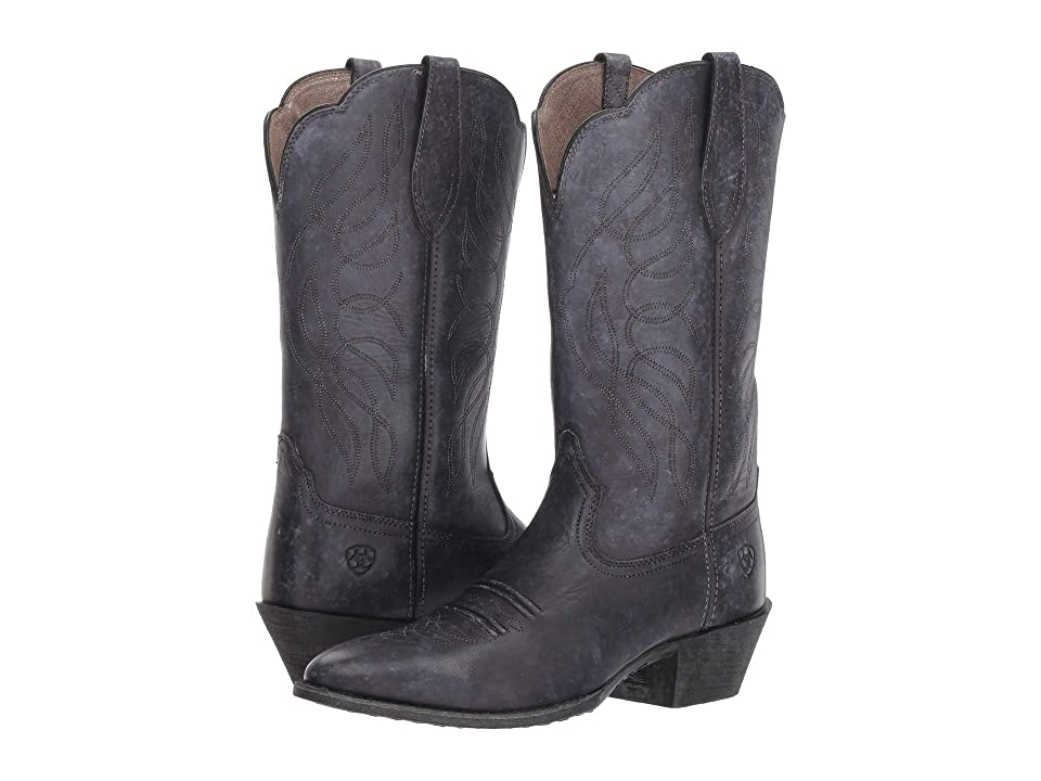 Ariat Heritage Western R Toe (Naturally Distressed Black) Women