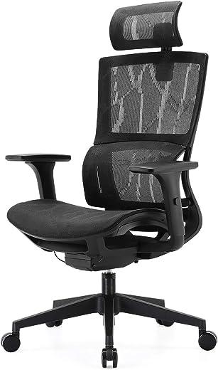 SIHOO Bürostuhl Ergonomisch, Schreibtischstuhl mit Ring Lordosenstütze, 3D Armlehnen und Sitztiefe Einstellbar, Verstellbare Wippfunktion…
