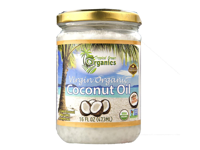 Tropical Green Organics Virgin Organic Coconut Oil, 16 oz. Jar