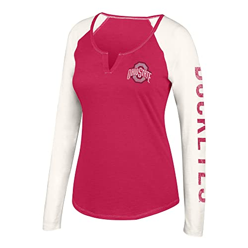 J America NCAA Women s Notch Neck Long Sleeve Tee Shirt 6a81b5fa1e