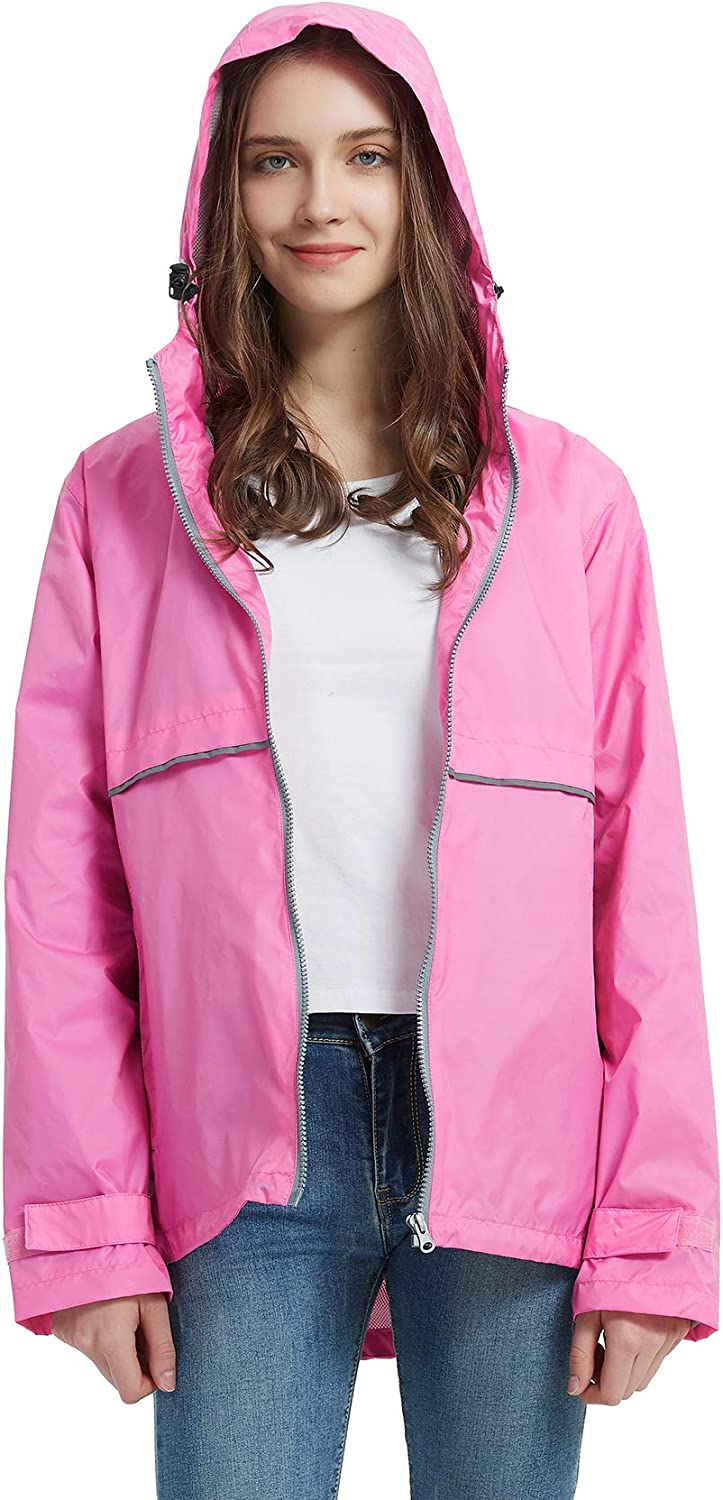 SUNDAY ROSE Women Inventory cleanup selling sale Rain Jacket Raincoat Waterproof free shipping Ho Lightweight