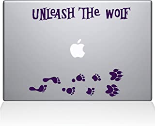 "The Decal Guru Unleash The Werewolf Macbook Decal Vinyl Sticker  - 15"" Macbook Pro (2015 & older) - Lavender (1243-MAC-15..."