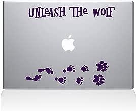 "The Decal Guru Unleash The Werewolf Macbook Decal Vinyl Sticker  - 15"" Macbook Pro (2016 & newer) - Lavender (1243-MAC-15X-LAV)"