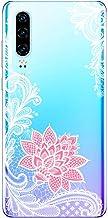 Suhctup Coque Compatible pour Huawei Y5 2018,Transparent en Silicone TPU Souple Etui,Ultra Fin Anti Choc Housse Couverture...