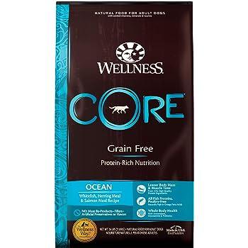 Wellness CORE 88414 Core Natural Grain-Free Dry Dog Food, Ocean Whitefish, Herring & Salmon, 26-Pound Bag