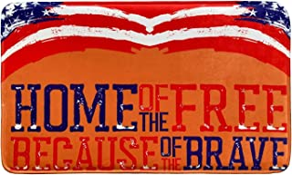 American Flag Patriotic Doormat TPR Back Non-Slip Floor Mat Switch Mat 18 x 30 Inch,Patriotic Holidays Memorial Day 4th of...