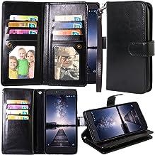 ZTE Zmax Pro Case, ZTE Carry Case, Harryshell 12 Card Slot PU Leather Wallet Flip Case..