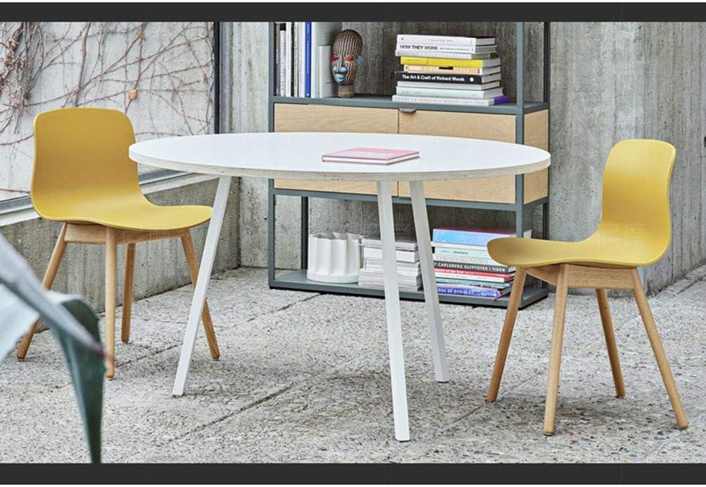 LJFYXZ Chaise Salle à Manger Chaise de cuisine Dossier d'arc Cadre en bois massif Forte capacité de charge 4 couleurs 51x51x79cm (Couleur : NOIR) Le Jaune