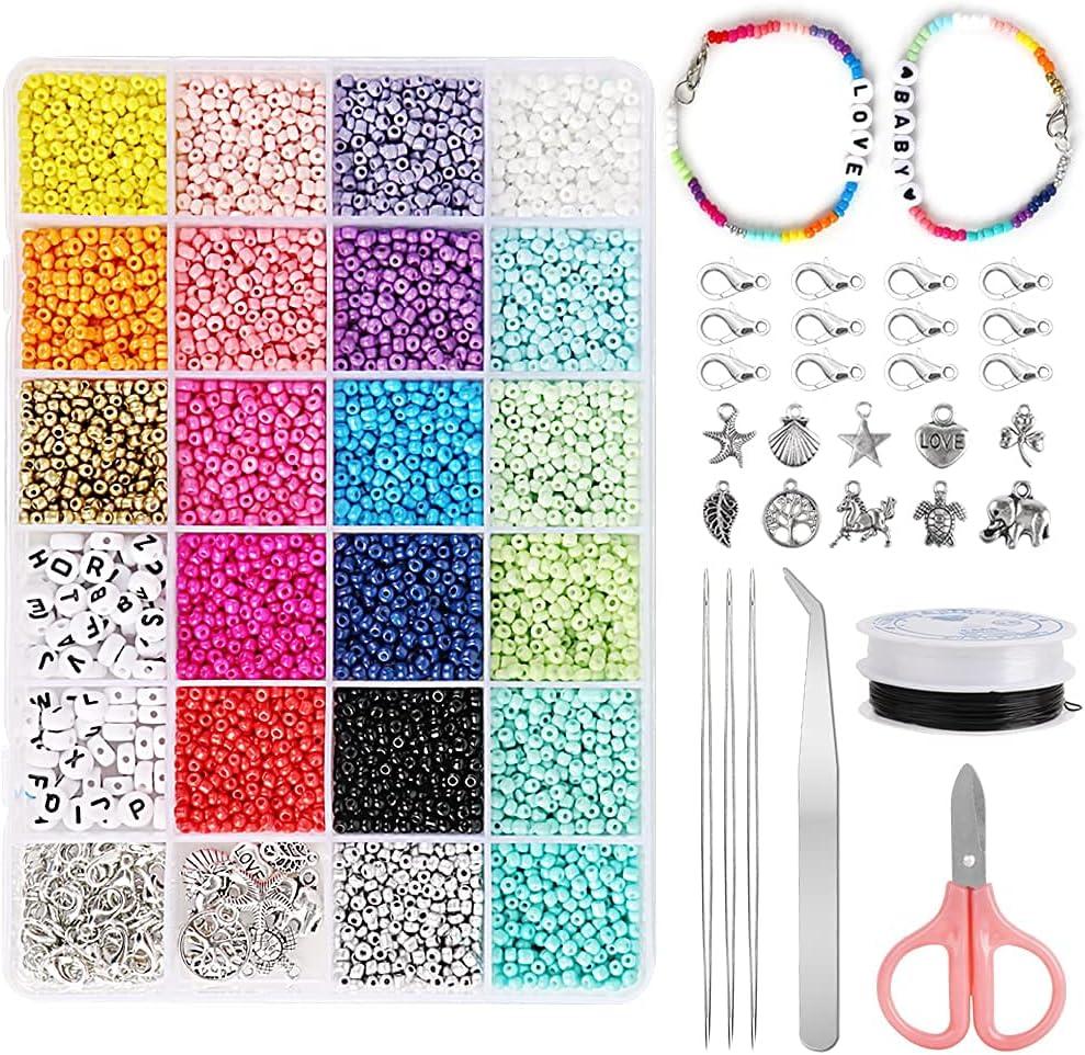 Cuentas de Colores 3mm mini Cuentas y Abalorios Cristal para DIY Pulseras Collares Bisutería