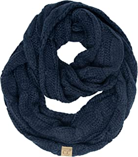 Kids Baby Beanies Matching Cable Knit Winter Infinity Scarf