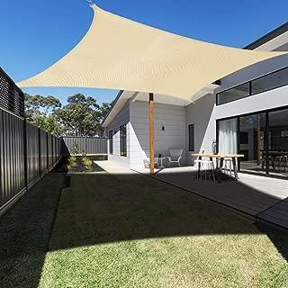 Ankuka Waterproof 13' x 20' Sun Shade Sail Canopy Rectangle UV Block for Outdoor Patio and Garden, Yard Activities
