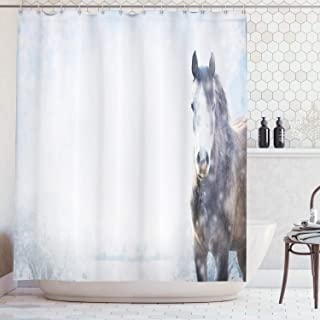 Amazon com: horse shower curtain