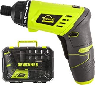Cordless Screwdriver, Rechargeable DEWINNER Lithium ion Battery Drill Driver Set, Electric 6N·m Electric 3.6 V 1300 mAh, V...