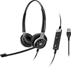 Sennheiser SC 660 USB CTRL (504555) - Double-Sided Business Headset   For Unified Communications   with HD Sound, Ultra Noise-Cancelling Microphone, & USB Connector (Black)
