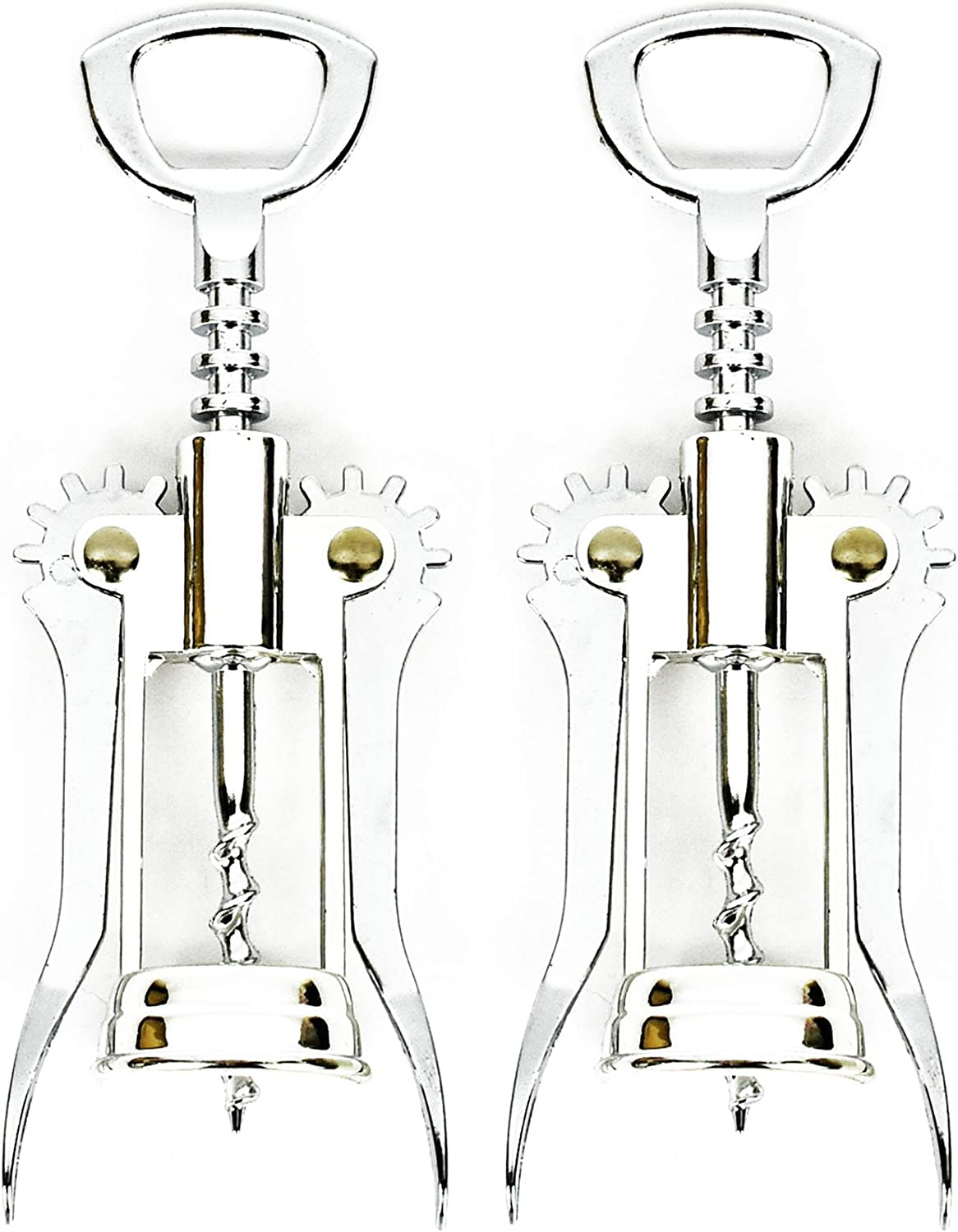 BlakeCroft SEAL limited product Set of 2 Winged – Max 90% OFF Multifun Alloy Corkscrew Zinc