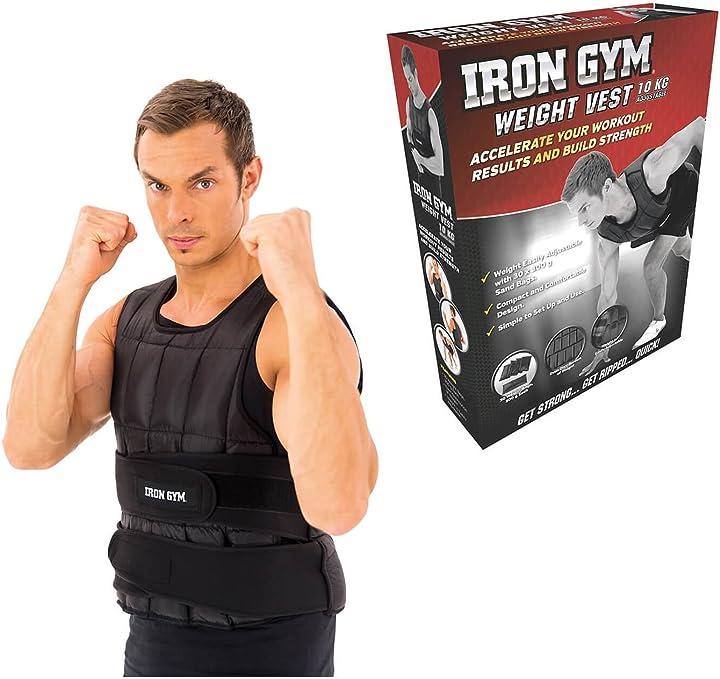 Giubotto zavorrato per corsa o palestra 10kg iron gym aucune IRIG00086