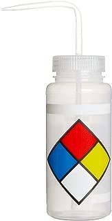 Bel-Art Safety-Labeled 4-Color LYOB Wide-Mouth Wash Bottles; 500ml (16oz), Polyethylene w/Natural Polypropylene Cap (Pack of 4) (F11716-0009)