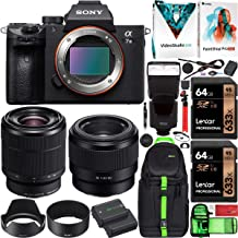 $2549 » Sony a7III Full Frame Mirrorless Camera ILCE-7M3KB with 2 Lens SEL2870 FE 28-70mm F3.5-5.6 OSS and SEL50F18F FE 50mm F1.8 Set + Deco Gear Backpack Case 2X 64GB Memory Cards Extra Battery Kit Bundle