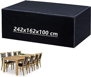 Mutsitaz Funda para Muebles de Jardín Impermeable Oxford Muebles de Jardin Cubierta Tamaño 242 X 162 X 100 cm