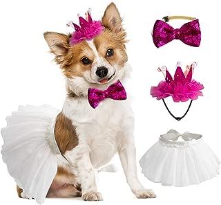 GAGILAND Dog Wedding Attire Tuxedo Top Hat Bow Tie Tulle Tutu Skirts Birthday Party Supplies