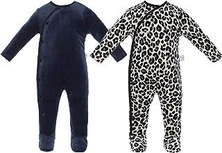 2 Pack Baby Boy Footies Romper, Long Sleeves NewBorn Toddler Bodysuit, Warm Infant Outfit