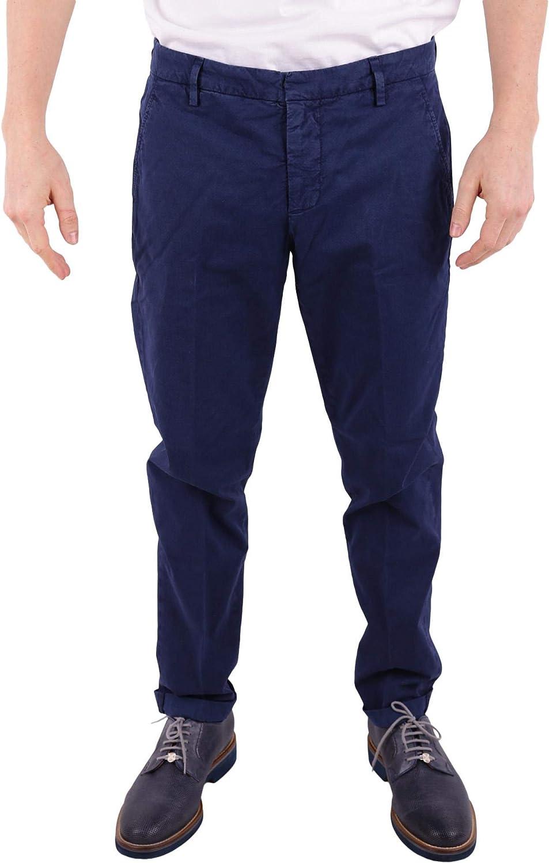 DONDUP Men's UP235FS145UPTDDU866 bluee Cotton Pants
