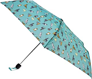 X-Brella Ladies/Women Colour Print Short Canopy Compact Umbrella (UK Size: One Size) (Turquoise)