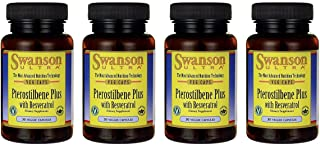Swanson Pterostilbene Plus with Resveratrol 30 Veg Capsules (4 Pack)