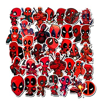 Deadpool Stickers for Water Bottles,Aesthetic Stickers for Teens,Girls,Kids,Laptop,Phone,Travel Extra Durable
