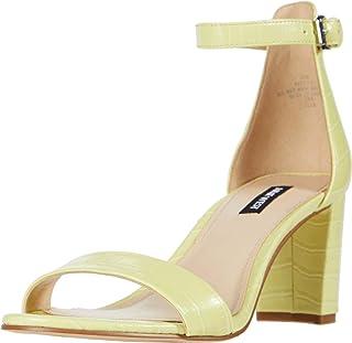 NINE WEST Pruce Block Heeled Sandal Citron 10
