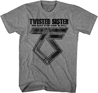 Twisted Sister Heavy Metal Band Can't Stop Rock'n'Roll Adult T-Shirt Tee