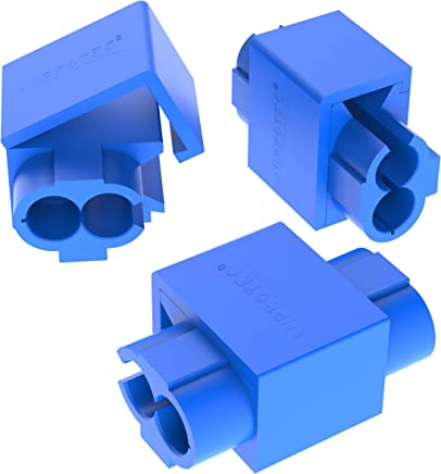 AUPROTEC 100x Female Spade Connectors 0.5-1.5 mm/² AWG 22-16 red 4.8 mm FDD flat PVC semi-insulated Electrical Crimp Connector tinned brass Terminals Receptacles