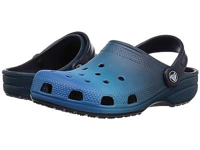 Crocs Kids Classic Ombre Clog (Toddler/Little Kid) (Blue Ombre) Kids Shoes