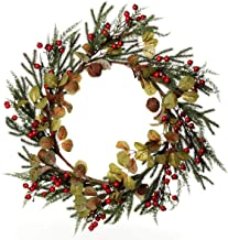 The Christmas Cart Large Rustic Pine Wreath | Also Available in Small Wreath as Well as Garland and Sprays | Bring a Rusti...