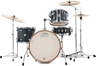 DW DDLG2004SG Design Series Frequent Flyer 4-piece Shell Pack with Snare Drum - Steel Gray