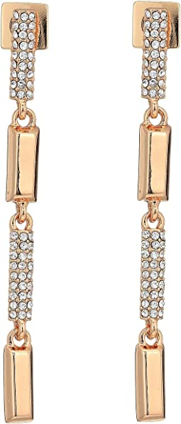 Vince Camuto - Rose Gold Pave Linear Earrings