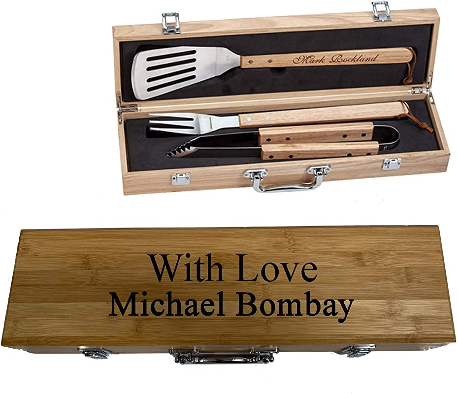 Sofia S Findings Personalized Grill Set BBQ Engrave Set Your Way