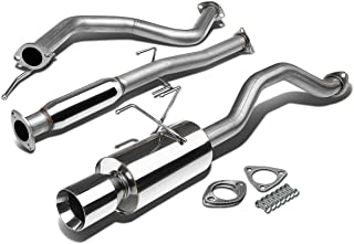 For 92-00 Honda Civic EG 2/4DR Stainless Steel 4 inches Rolled Muffler Tip Catback Exhaust System