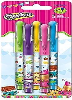 Shopkins Colored Gel Pens, 5 Pack