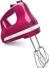 KitchenAid KHM512CB 5-Speed Hand Mixer, Cranberry