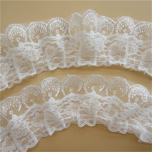 Lace Ribbon Trim Craft Floral Wedding Accessories DIY Jar Card Sew Trimming UK