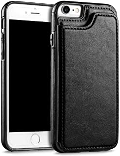 iPhone 7&8 Business Men Women Premium Leather Wallet Holder Stand Flip Phone Case