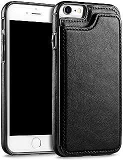 حافظة هاتف أيفون 7 و 8 رجال الأعمال النساء الفاخرة محفظة جلدية حامل فليب