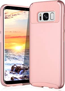 Galaxy S8 Case, Samsung Galaxy S8 Case, BENTOBEN Dual Layer Slim Fit Hybrid Excellent Grip Protection Hard PC Shell Soft TPU Bumper Case Covers for Samsung Galaxy S8 2017 (5.8 inch), Pink
